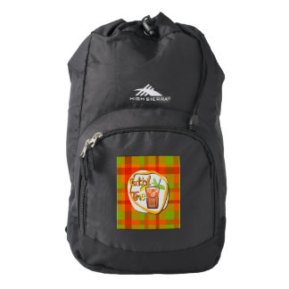 "Illustration Cocktail with fruit ""Cocktail Time"" Backpack"