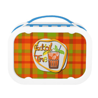 """Illustration Cocktail with fruit """"Cocktail Time"""" Lunch Box"""
