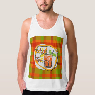 "Illustration Cocktail with fruit ""Cocktail Time"" Singlet"