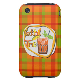 """Illustration Cocktail with fruit """"Cocktail Time"""" Tough iPhone 3 Cases"""