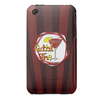 """Illustration Cocktail with lemon """"Cocktail Time"""" iPhone 3 Cover"""