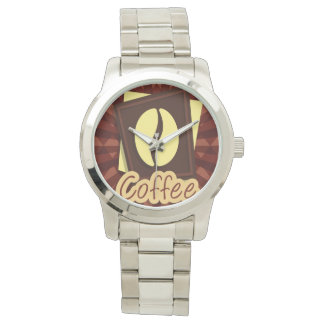 Illustration coffee bean wristwatch