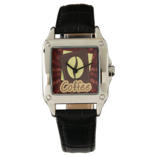 Illustration coffee bean wristwatches