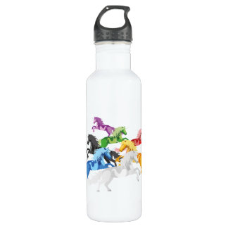 Illustration colorful wild Unic 710 Ml Water Bottle