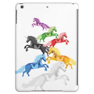 Illustration colorful wild Unicorns