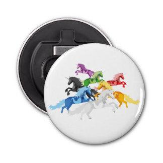 Illustration colorful wild Unicorns Bottle Opener