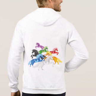 Illustration colorful wild Unicorns Hoodie