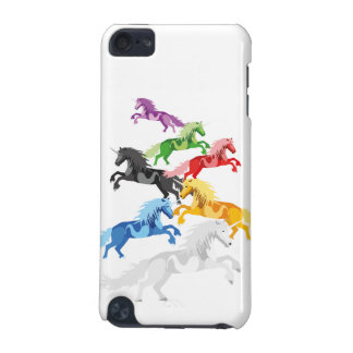 Illustration colorful wild Unicorns iPod Touch 5G Case