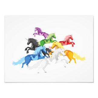 Illustration colorful wild Unicorns Photo Print