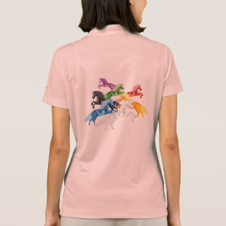 Illustration colorful wild Unicorns Polo Shirt