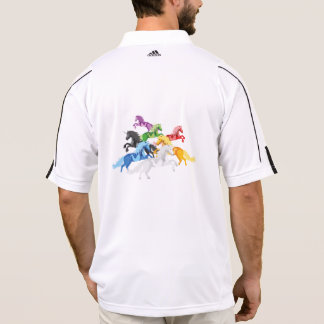 Illustration colorful wild Unicorns Polo Shirt