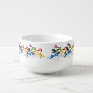 Illustration colorful wild Unicorns Soup Mug