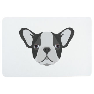 Illustration cute French Bulldog Floor Mat