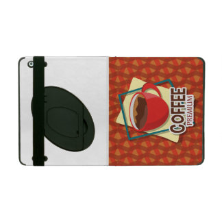 Illustration delicious cup of coffee iPad cover