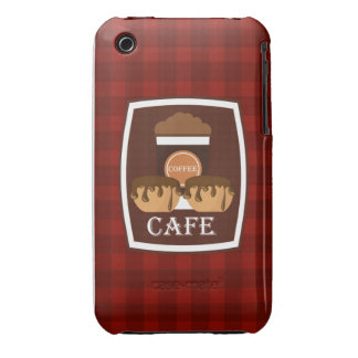 Illustration delicious cup of coffee iPhone 3 cover
