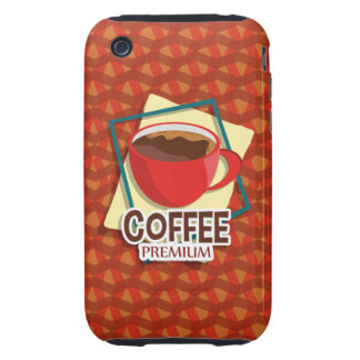 Illustration delicious cup of coffee iPhone 3 tough case