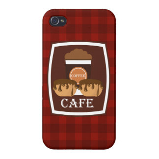 Illustration delicious cup of coffee iPhone 4 cover