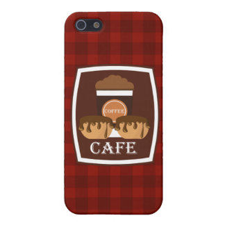 Illustration delicious cup of coffee iPhone 5 cases