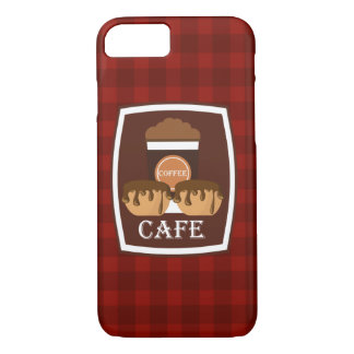 Illustration delicious cup of coffee iPhone 7 case