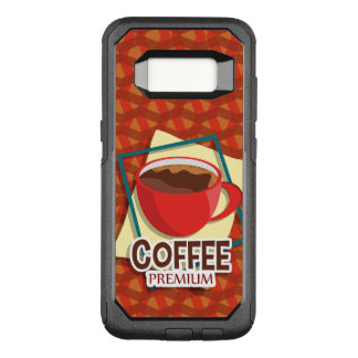Illustration delicious cup of coffee OtterBox commuter samsung galaxy s8 case