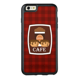 Illustration delicious cup of coffee OtterBox iPhone 6/6s plus case