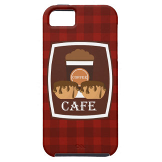 Illustration delicious cup of coffee tough iPhone 5 case