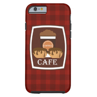 Illustration delicious cup of coffee tough iPhone 6 case