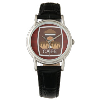 Illustration delicious cup of coffee watch