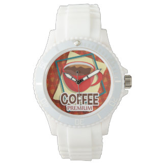 Illustration delicious cup of coffee watches