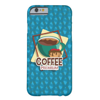 Illustration delicious cup of coffee with a muffin barely there iPhone 6 case