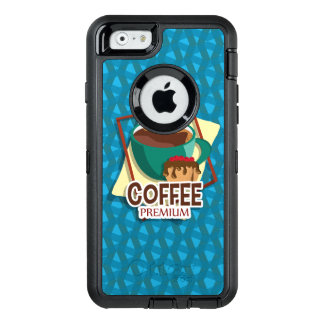 Illustration delicious cup of coffee with a muffin OtterBox iPhone 6/6s case