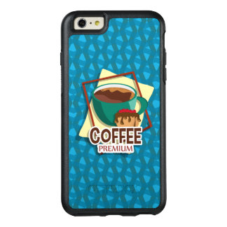 Illustration delicious cup of coffee with a muffin OtterBox iPhone 6/6s plus case