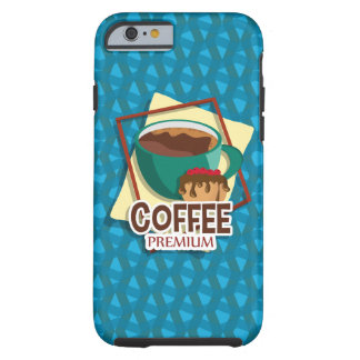 Illustration delicious cup of coffee with a muffin tough iPhone 6 case