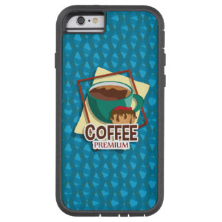 Illustration delicious cup of coffee with a muffin tough xtreme iPhone 6 case