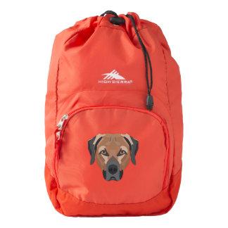 Illustration Dog Brown Labrador Backpack