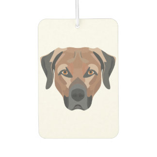Illustration Dog Brown Labrador Car Air Freshener
