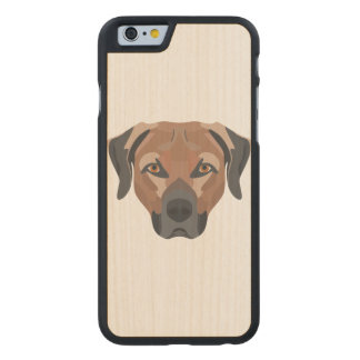 Illustration Dog Brown Labrador Carved Maple iPhone 6 Case