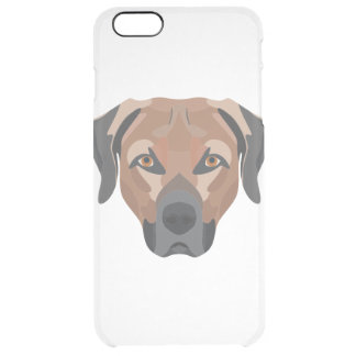 Illustration Dog Brown Labrador Clear iPhone 6 Plus Case