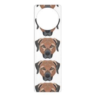 Illustration Dog Brown Labrador Door Hanger