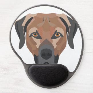 Illustration Dog Brown Labrador Gel Mouse Pad