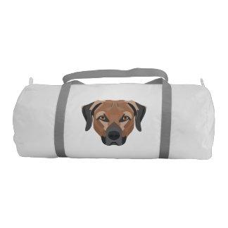 Illustration Dog Brown Labrador Gym Bag
