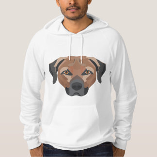 Illustration Dog Brown Labrador Hoodie
