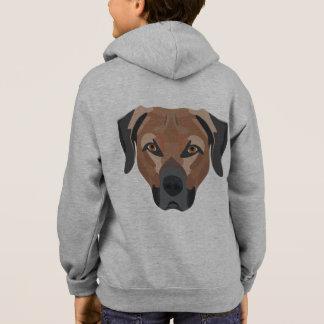 Illustration Dog Brown Labrador Hoodie