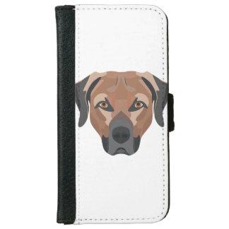 Illustration Dog Brown Labrador iPhone 6 Wallet Case