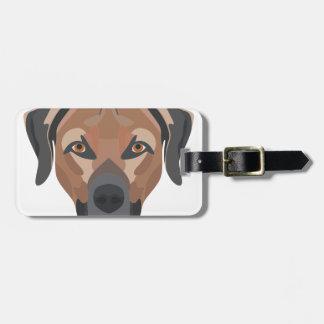 Illustration Dog Brown Labrador Luggage Tag