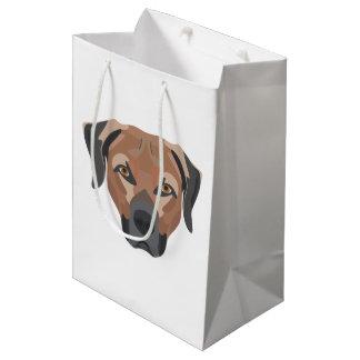 Illustration Dog Brown Labrador Medium Gift Bag