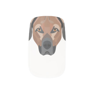 Illustration Dog Brown Labrador Minx Nail Art