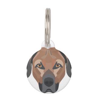 Illustration Dog Brown Labrador Pet ID Tag