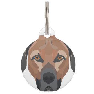 Illustration Dog Brown Labrador Pet Tag
