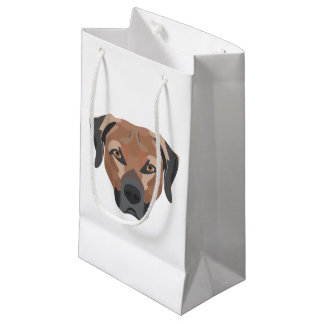 Illustration Dog Brown Labrador Small Gift Bag